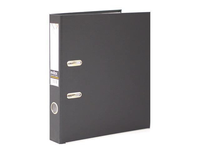 Регистратор  А4/50 Index серый с металлической окантовкой 5/30 PVC NEW СЕР