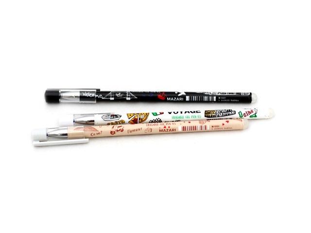 Ручка пиши-стирай Mazari Voyage гелевая синяя 0.5мм М-5531