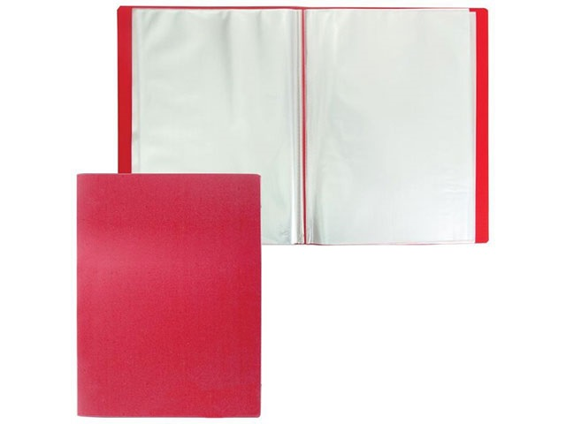 Папка с файлами  30ф А4 красная Proff Fibre DB30F-01