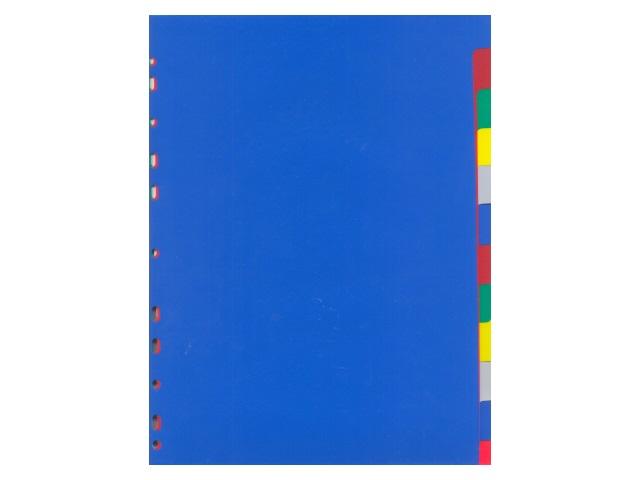 Разделитель А4 (12цв) пластик цветной Attomex 3051511