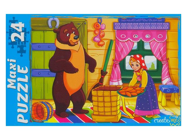 Пазлы Maxi 24 детали Маша и Медведь ПМ-7134