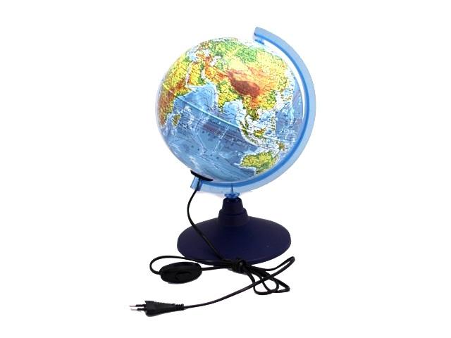 Глобус физический D 210 мм с подсветкой Ке012100179