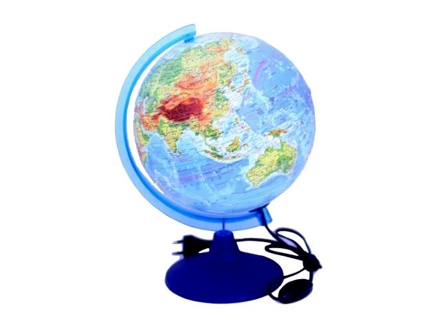 Глобус физико-политический D 250 мм с подсветкой Ке022500191