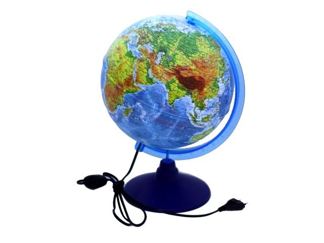 Глобус физический D 250 мм с подсветкой Ке012500189