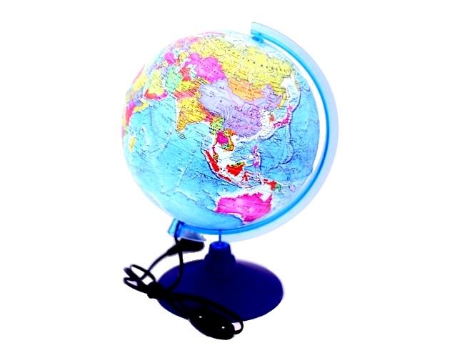 Глобус политический D 250 мм с подсветкой Globen Ке012500190
