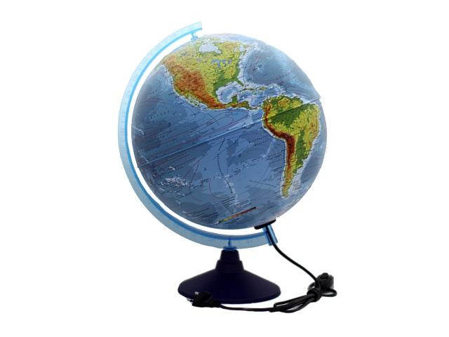 Глобус физико-политический D 320 мм рельефный с подсветкой Ке013200233
