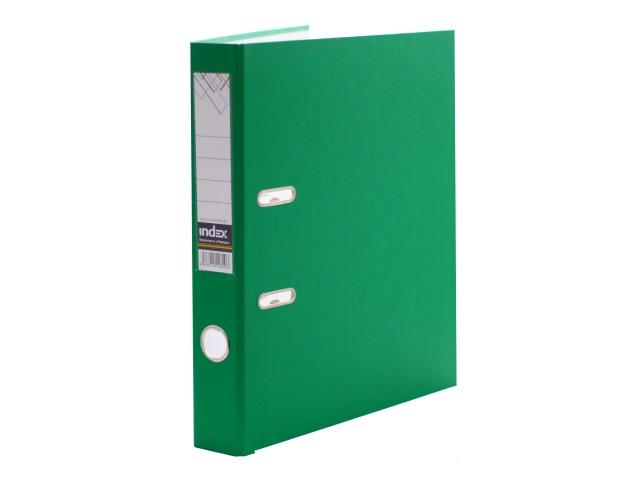 Регистратор  А4/50 Index зеленый с металлической окантовкой 5/30 PVC NEW ЗЕЛ