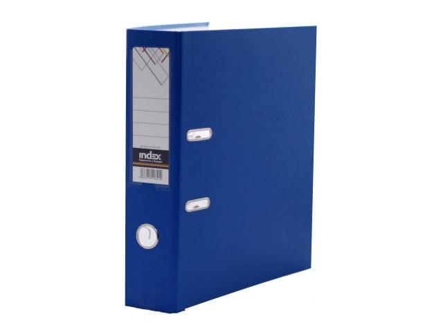 Регистратор  А4/80 Index синий с металлической окантовкой 8/24 PVC NEW СИН