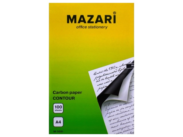 Копировальная бумага А4 100л черная Mazari М-5691