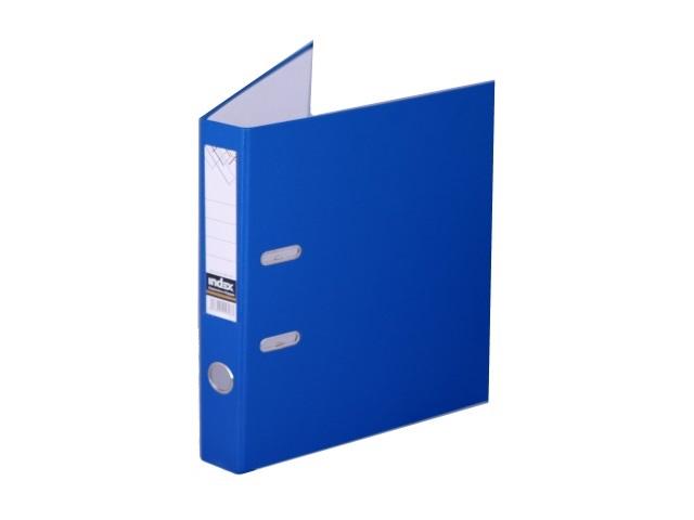 Регистратор  А4/50 Index синий с металлической окантовкой 5/30 PVC NEW СИН