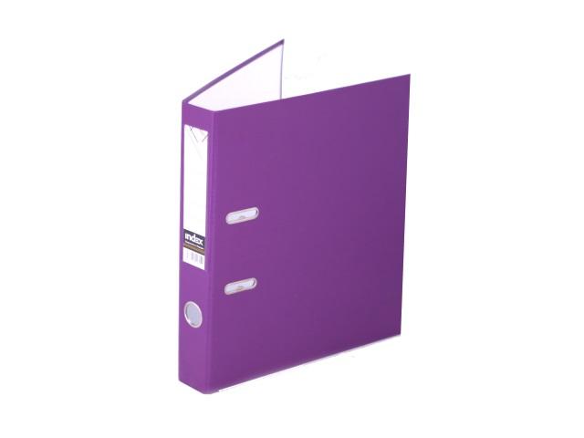 Регистратор  А4/50 Index фиолетовый с металлической окантовкой 5/30 PVC NEW Ф