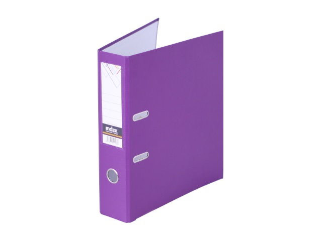 Регистратор  А4/80 Index фиолетовый с металлической окантовкой 8/24 PVC NEW Ф