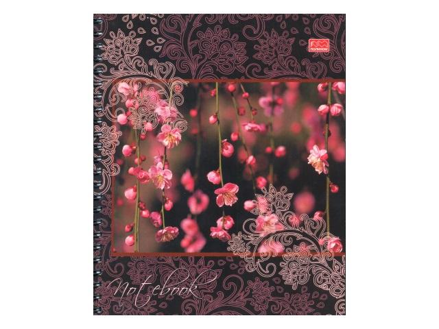 Тетрадь А5 на спирали м/обложка  96л Flower Collection Полином 15с9-96