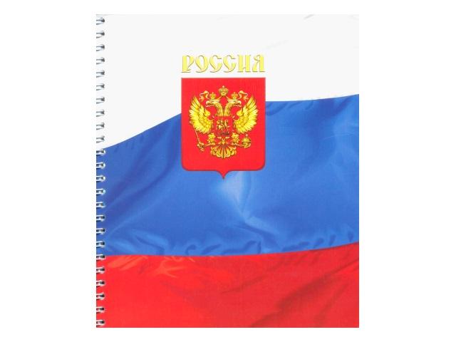 Тетрадь А5 на спирали м/обложка  48л Россия Полином 21с18-48