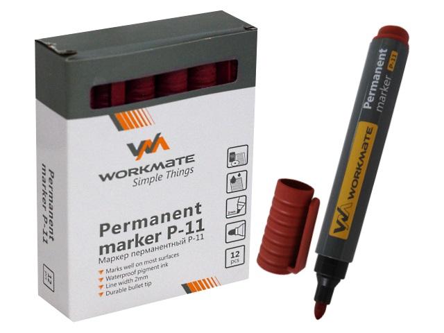 Маркер перманентный WM красный круглый 2мм Р-11 048001105
