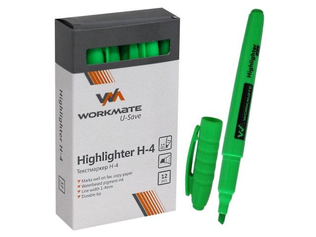 Маркер текстовый WM Н-4 зеленый скошенный 1-4мм 048000404