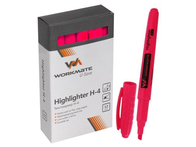 Маркер текстовый WM Н-4 розовый скошенный 1-4мм 048000410