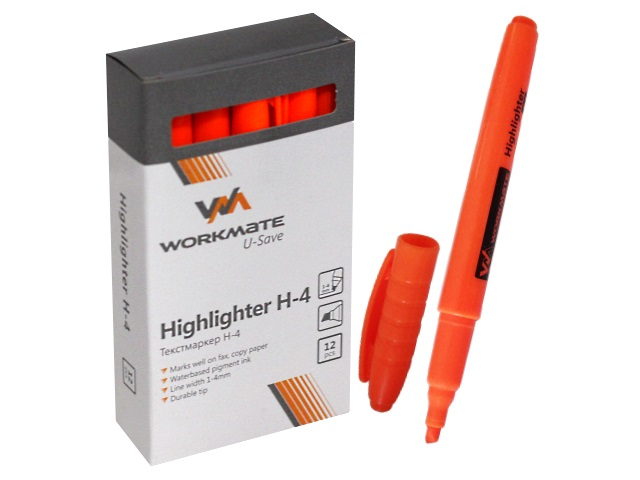 Маркер текстовый WM Н-4 оранжевый скошенный 1-4мм 048000412