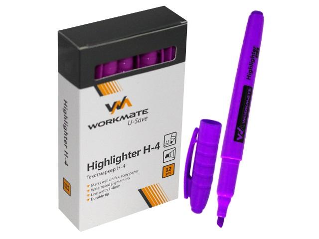 Маркер текстовый WM Н-4 фиолетовый скошенный 1-4мм 048000417
