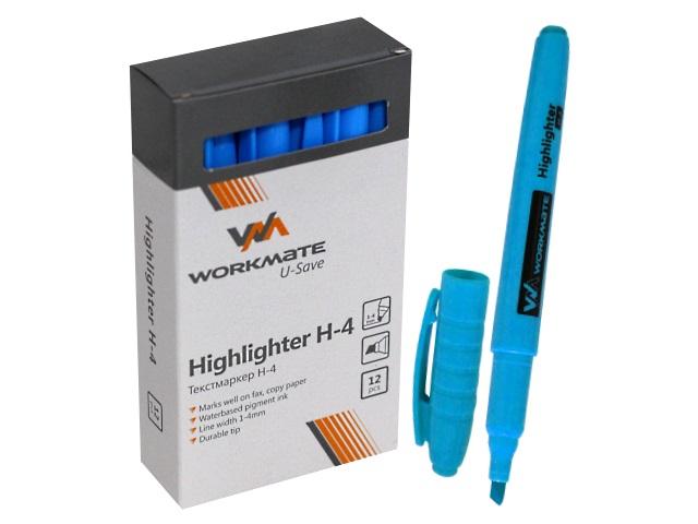 Маркер текстовый WM Н-4 голубой скошенный 1-4мм 048000409