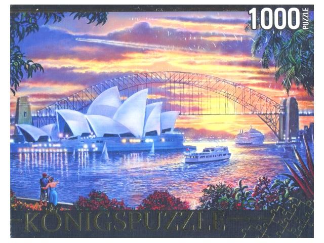 Пазлы 1000 деталей Сиднейский оперный театр Konigspuzzle МГК1000-6495/10