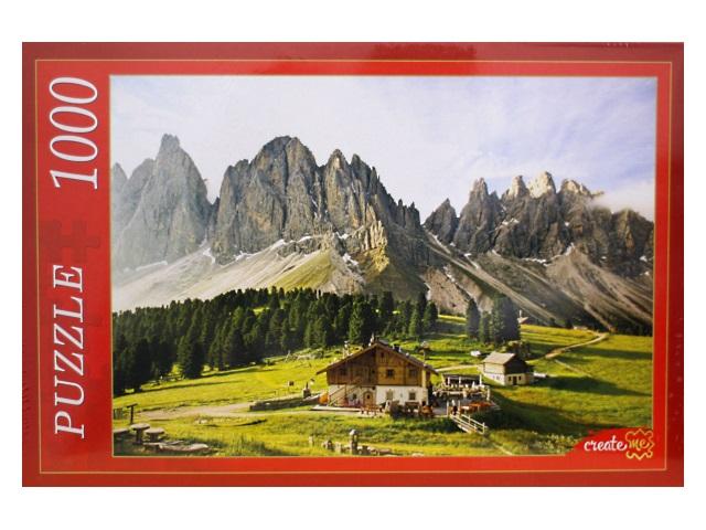 Пазлы 1000 деталей Дом и горные вершины КБ1000-6863
