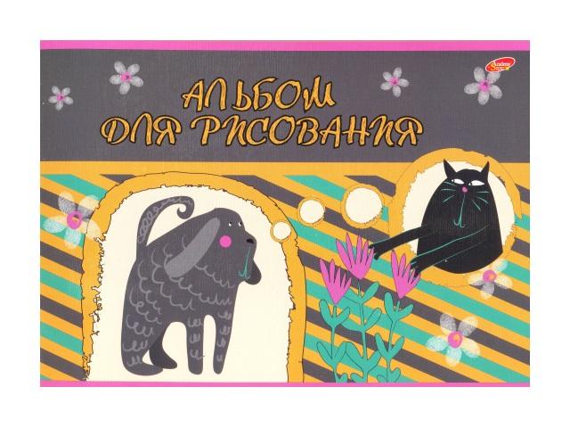 Альбом 24л А4 на скобах лён Забавные животные Академия Групп ЕАС-8364-2