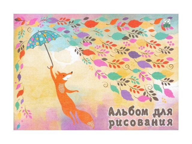 Альбом 40л А4 на скобах Лиса с зонтиком Академия Групп ЕАС-8768