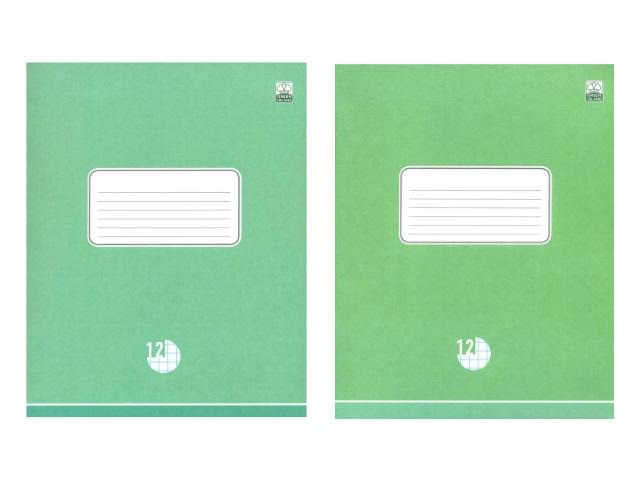 Тетрадь 12л клетка Оттенки зеленого Академия Групп EAC-8347-5