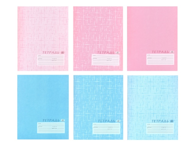 Тетрадь 12л линия Текстура розовая/бирюзовая Академия Групп ЕАС-5766-4.5802-4