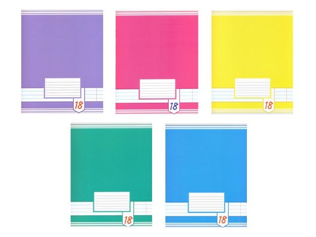 Тетрадь 18л линия Цветные фоны Академия Групп EAC-7116-5