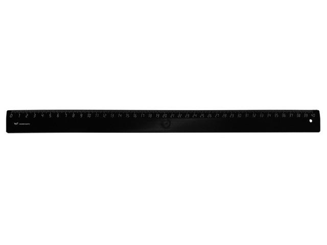 Линейка  40 см черная WM 182001201