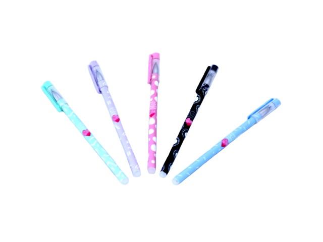 Ручка пиши-стирай гелевая, синяя 0.38 мм, Basir HY-1051