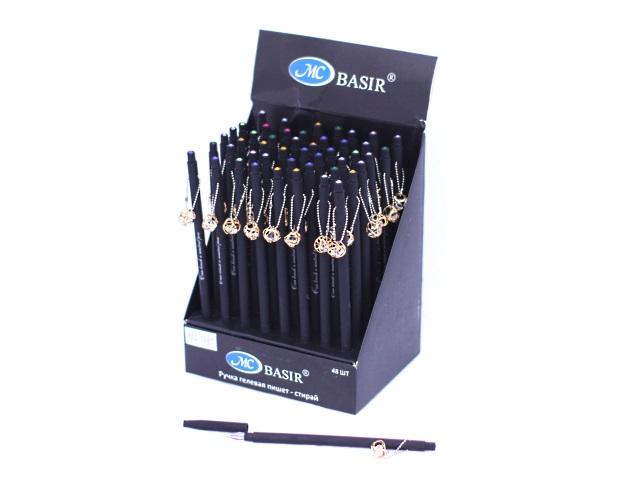 Ручка пиши-стирай Basir подвеска кристалл гелевая синяя 0.38мм MC-3981