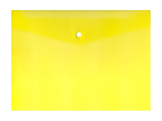 Папка конверт на кнопке А4 желтая прозрачная 120мкм Expert Complete 2205314