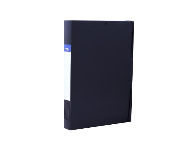 Папка архивная пластик на резинке А4  4см черная Expert Complete 26050