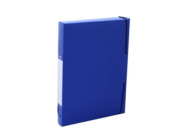 Папка архивная пластик на резинке А4  4см синяя Expert Complete 26051