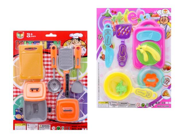 Посуда 6 предметов пластик ассорти 30