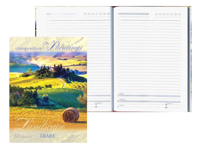 Ежедневник недатированный А5 твердая обложка 80 листов Поля, Prof Press 80-1429