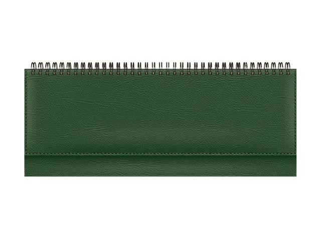 Планинг недатированный бумвинил 56 листов зеленый, Prof Press 56-1493