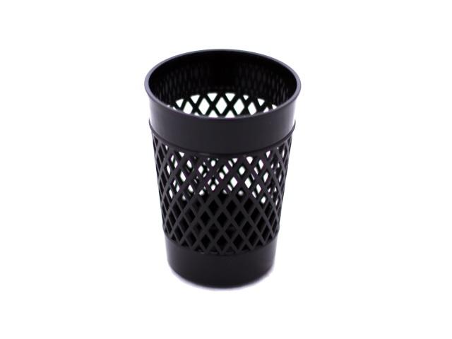 Стакан для ручек пластик черный круглый WM 045000101