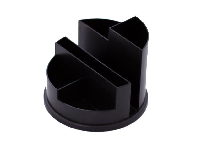 Подставка для ручек  6 отделений черная круглая WM 045000301