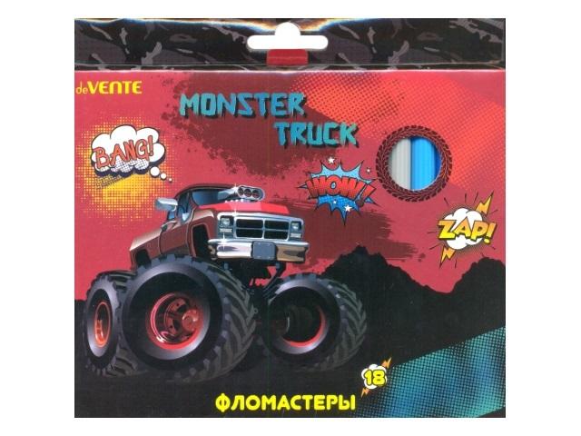 Фломастеры 18цв DeVente Monster Truck 5082717