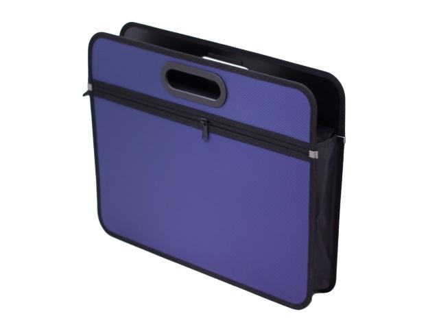 Портфель А4  1 отделение пластик синий на молнии Kanzfile PPB-30