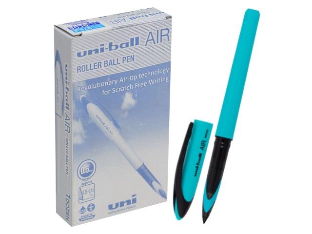 Ручка роллер Uni-ball Air синяя 0.5мм бирюзовый корпус UBA-188EL-M