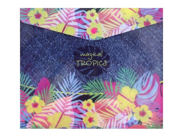 Папка конверт на кнопке В5 детская Magical Tropics 180мкм Limpopo 22053100