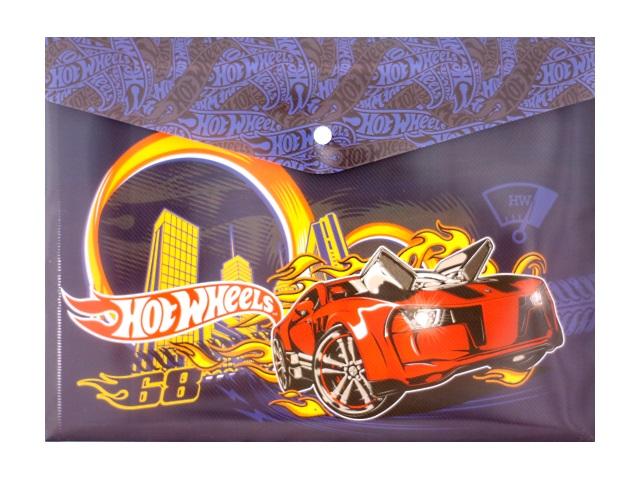 Папка конверт на кнопке А4 детская Hot Wheels 180мкм Limpopo 4252145