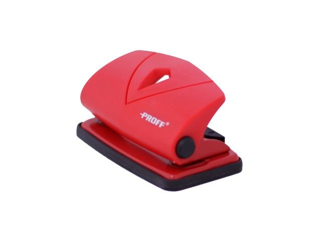 Дырокол на 10 листов пластик красный Proff PF-90K8-01