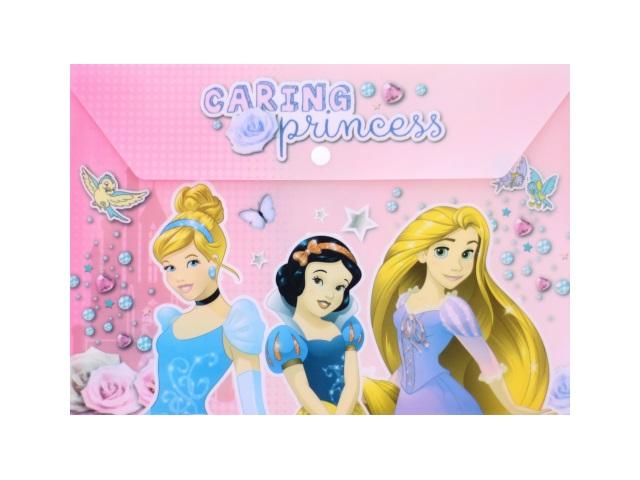 Папка конверт на кнопке А4 детская Принцесса Академия Групп PRCB-US1-PLB-EN15