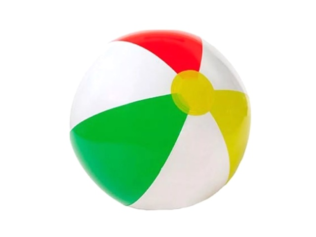 Мяч надувной 41 см, цветной, в пакете, Intex